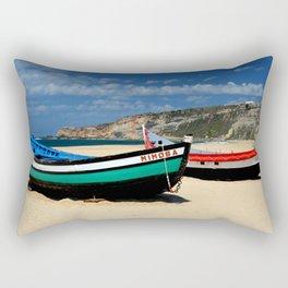 Colorful fishingboats Rectangular Pillow