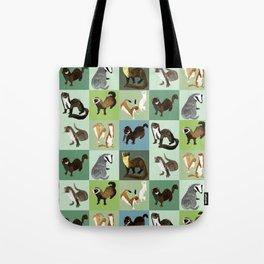 Best Nine  Mustelids from Spain Tote Bag
