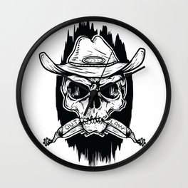 Outlaw's Skull Wall Clock