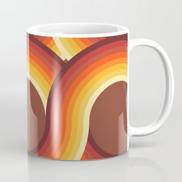 Rollin' Retro Road in Orange Ombre + Tan  Coffee Mug