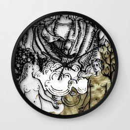Glamour Tarot The Lovers Wall Clock