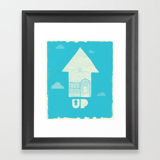 UP - Movie Poster Framed Art Print