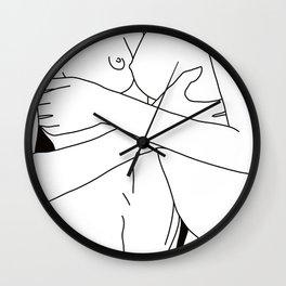 Lesbian Touch Wall Clock