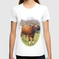 cows T-shirts featuring Cows by AstridJN