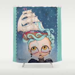 A Ship at Sea is Sure to Flee Shower Curtain