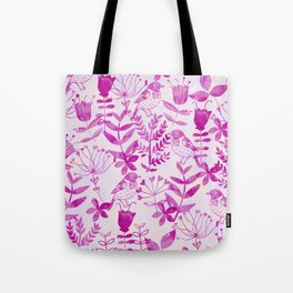 Watercolor Floral & Birds II Tote Bag