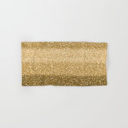 Glitter Glittery Copper Bronze Gold Hand & Bath Towel
