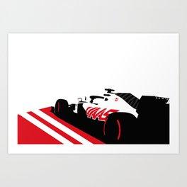 Haas Formula 1 2020 Art Print