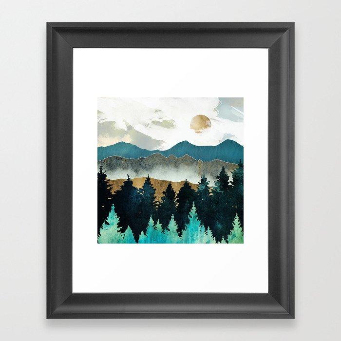 Forest Mist Gerahmter Kunstdruck