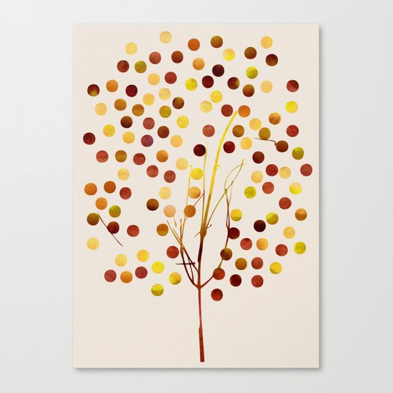 Tree of Life_Amber by Jacqueline and Garima Canvas Print