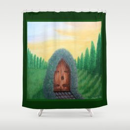 In Other Worlds Shower Curtain