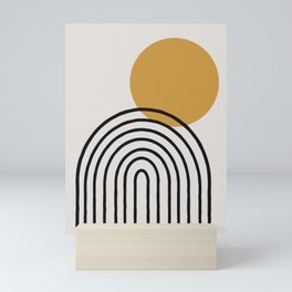 Rainbow, Gold Sun,  Mini Art Print