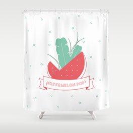 Watermelon pop Shower Curtain