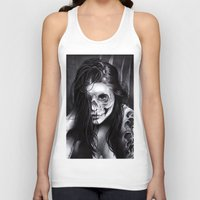 day of the dead Tank Tops featuring Day Of The Dead by leonmorley