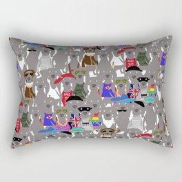 Big Dog Weim Nation Grey Ghost Weimaraner Hand-painted Pet Pattern on White Rectangular Pillow