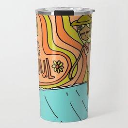 Baby you've got soul // surf art lady slide Travel Mug