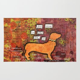 dogs never lie about love Rug