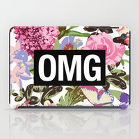 2pac iPad Cases featuring OMG by Text Guy