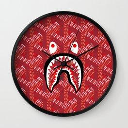 Goyard Bape Red Wall Clock