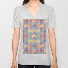Colorful geometric blocks Unisex V-Neck