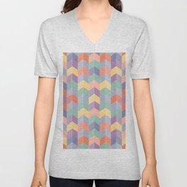 Colorful geometric blocks Unisex V-Neck