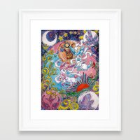 sylveon Framed Art Prints featuring Sylveon Watercolor by Theresa Felice