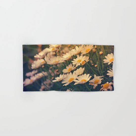 White daisy sunrise effect Hand & Bath Towel