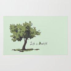 Life is Beautiful Olive Tree Rug