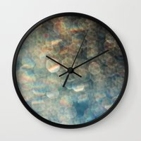 diamonds Wall Clocks featuring Diamonds by The Botanist's Daughter