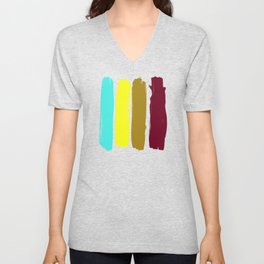 Color stripes Unisex V-Neck
