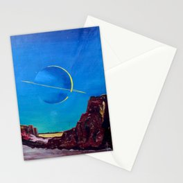 Saturn From Titan Stationery Cards
