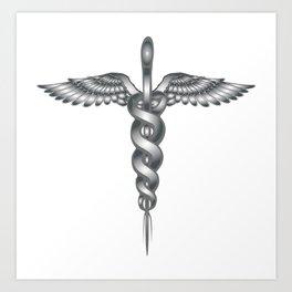Caduceus Medical Symbol Art Print