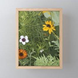 Wild Flowebed 6 Framed Mini Art Print