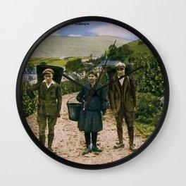 1900 Mosel wine harvest Schengen Luxembourg Wall Clock