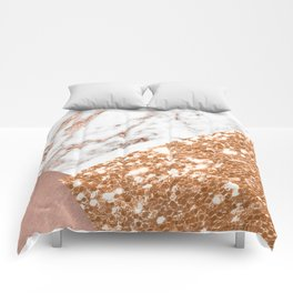 Layers of rose gold Comforters