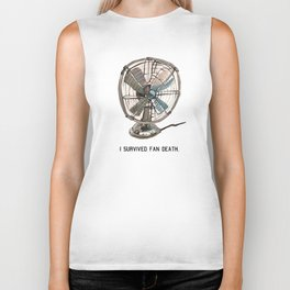 I survived fan death Biker Tank