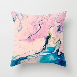 Ebb & Flow Marble Throw Pillow