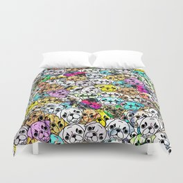Gemstone Pugs Dogs Duvet Cover