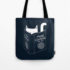 Mind Control For Cats (dark blue) Tote Bag