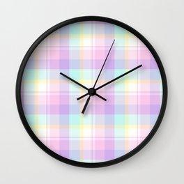 Spring Plaid 8 Wall Clock