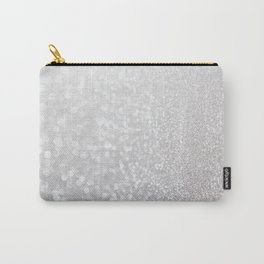 Silver ice - glitter effect- Luxury design Carry-All Pouch