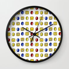 Coins, Boxes and Power ups, Oh my! Wall Clock
