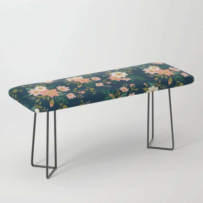 Spring flowers Bench