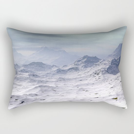 Snow Covered Mountains Rectangular Pillow