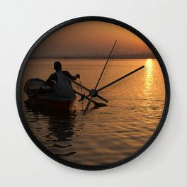Sunrise on the Ganges Wall Clock