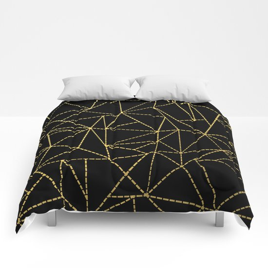 Ab Dotted Gold Comforters