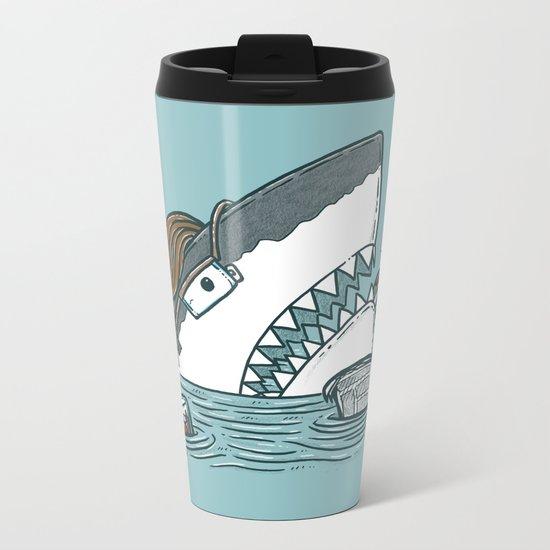 The Dad Shark Metal Travel Mug