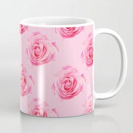 Pink Rose Swirly Petals Coffee Mug