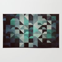 noir Area & Throw Rugs featuring noir? by Spires