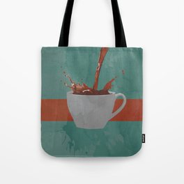 Caffeine splash Tote Bag